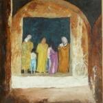 Marrakesh bread queue chat
