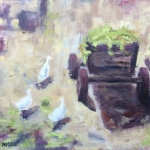 Geese and cart in Cund