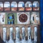 Sighisoara clock at night