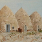 Beehive houses in the desert