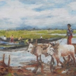 The oxcart, Inle Lake